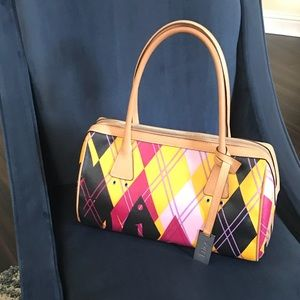 Dior Multicolored Canvas Bag Certified Authentic